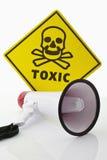 Giftiges WARNING Stockfoto