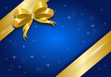Gifting background with ribbon Royalty Free Stock Images