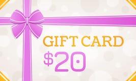 Giftkaart, giftbon - 20 dollars vector illustratie