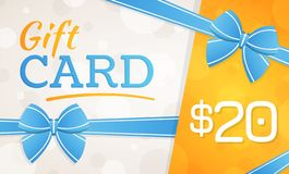 Giftkaart, giftbon - 20 dollars stock illustratie