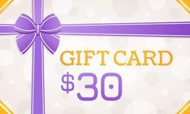 Giftkaart, giftbon - 30 dollars royalty-vrije illustratie