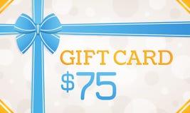 Giftkaart, giftbon - 75 dollars stock illustratie