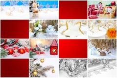 Giftkaart, Kerstmisaanhangwagen Stock Foto's