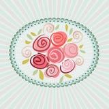 Giftkaart met rozenbloemen Royalty-vrije Stock Foto's