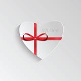 Giftkaart voor de dag van Valentine Royalty-vrije Stock Afbeeldingen