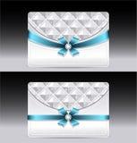 Giftkaarten met geometrische patroon lichtblauwe boog r vector illustratie
