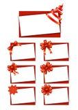 Giftkaarten met Linten Royalty-vrije Stock Fotografie