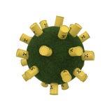 Giftlig avfalls med gräs Royaltyfria Foton