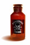 Giftlig flaska royaltyfri illustrationer