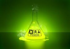 Giftlig kemikalie royaltyfri illustrationer