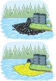 Giftligt spill royaltyfri illustrationer