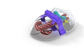 Giftpak van Kerstmissuikergoed, het 3d teruggeven Royalty-vrije Stock Foto