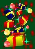 Giftrain with balls Stock Photos