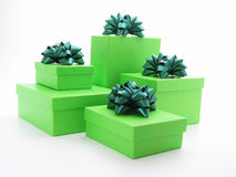 Gifts. Green gifts Royalty Free Stock Images
