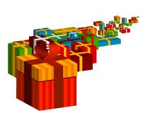 Gifts. As infinity color line Stock Image