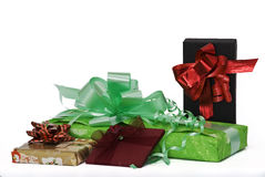 Gifts. Some gifts with boxes and ribbons Royalty Free Stock Images