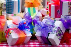 Gifts. Colorful gifts Royalty Free Stock Photo