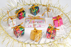 Gifts. Gift isolated on white background royalty free stock photography