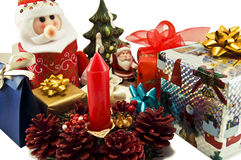 Gifts. Xmas gifts isolated on white Stock Photos