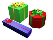 Gifts. Very Colorful Gifts Royalty Free Stock Photography