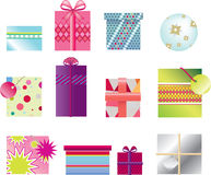 Gifts 2d x12 Royalty Free Stock Image