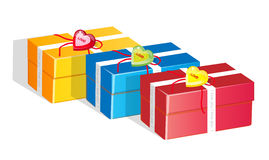 Gifts. Easy to resize or change color Royalty Free Stock Photos
