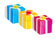 Gifts. Easy to resize or change color Stock Photos