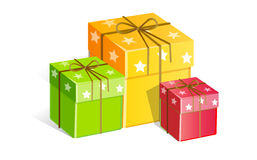 Gifts. Easy to resize or change color Royalty Free Stock Images