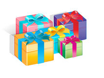 Gifts. Easy to resize or change color Royalty Free Stock Photo
