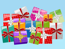 Gifts. Easy to resize or change color Stock Images