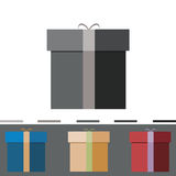 Gifts. Collection boxes in 4 colors Stock Photo