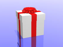 Gifts in 3d over a blue background Royalty Free Stock Images