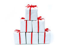 Gifts. Pyramid of present Stock Photography