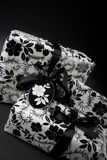 Gifts. A view of gifts wrapped in a paper with floral design Stock Photography