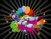 Gifts abstract vector. Composition illustration stock illustration