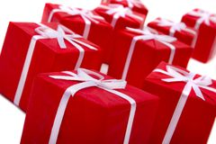 Gifts against white background Royalty Free Stock Photo