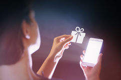 Gifts in the age of digital technology Stock Images