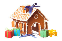 Gifts And Gingernut House Royalty Free Stock Image