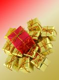 Gifts arrangement Stock Images
