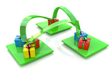 Gifts and arrows Royalty Free Stock Image