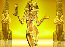 Gifts of art and architecture. An Egyptian Goddess presents the gifts of art and architacture to the world Royalty Free Stock Images