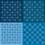 Gifts background in blue Stock Photography