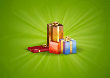 Gifts background Royalty Free Stock Images