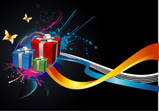 Gifts backgrounds illustration Royalty Free Stock Image