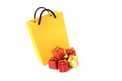 Gifts and bag Stock Images