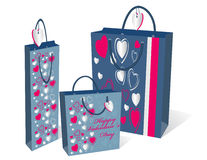 Gifts bag set Royalty Free Stock Photos