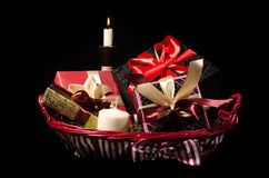 Gifts basket Royalty Free Stock Images