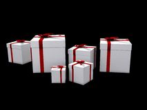 Gifts on black Royalty Free Stock Images