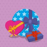 Gifts with bows design. Gifts with bows of surprise and present theme Vector illustration Stock Photo