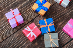 Gifts box in a colorful package Stock Images